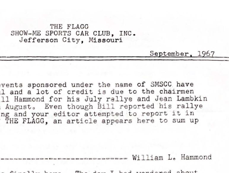 SMSCC The Flagg Newsletter September 1967